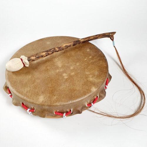 Rothirsch-Trommel mit Buchenrahmen